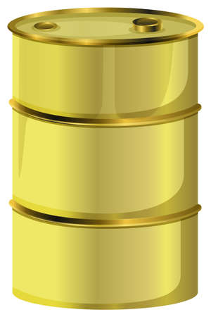 oil barrel: Illustration of an oil barrel on a white background