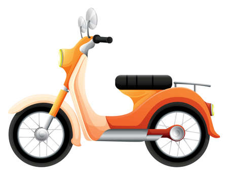 motorised: Illustration of a two-wheeled transportation on a white background