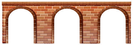 brick road: Illustration of a concrete bridge on a white background