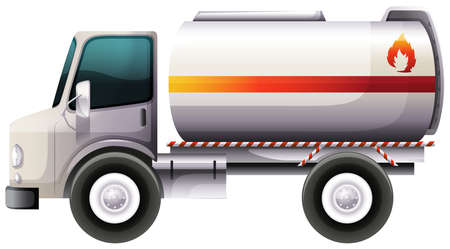 motor vehicle: Illustration of a delivery truck on a white background
