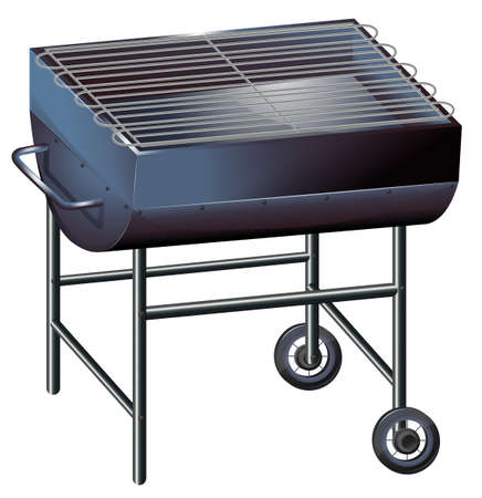 seafoods: Illustration of a gray barbeque grill on a white background
