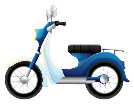 mopeds: Illustration of a motorbike on a white background