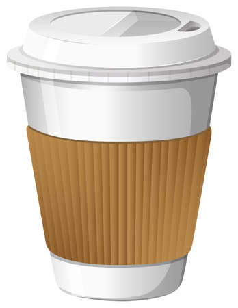refreshments: Illustration of a cup of coffee on a white background
