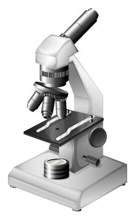 白い背景の上の微視的計測器のイラスト
