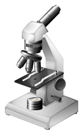 microscopic: Illustration of a microscopic instrument on a white background Illustration