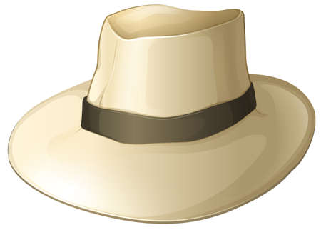 Illustration of a white hat on a white background Vector