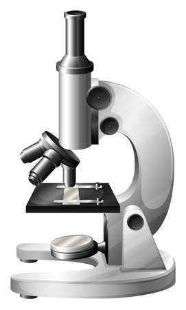 photons: Illustration of a microscope on a white background