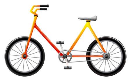 Illustratie van een fiets op een witte achtergrond Vector Illustratie