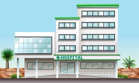 Illustration of a hospital building Vector