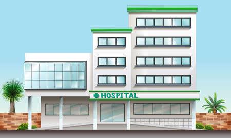 pacientes: Ilustración de un edificio del hospital