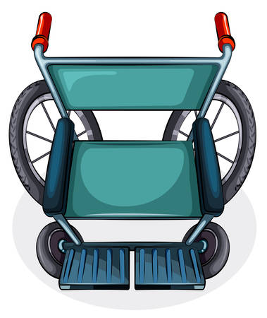 occupant: Illustration of the aerial view of a wheelchair on a white background