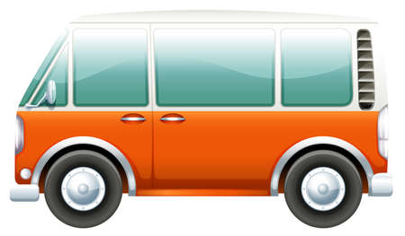 manmade: Illustration of a bus on a white background Illustration