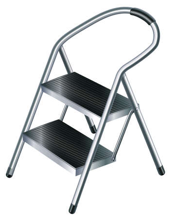 ladder safety: Illustration of a useful ladder on a white background Illustration