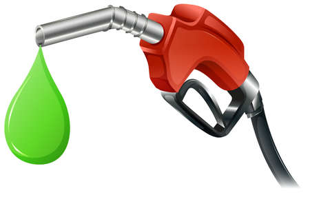 Illustration of a fuel pump on a white background Illustration