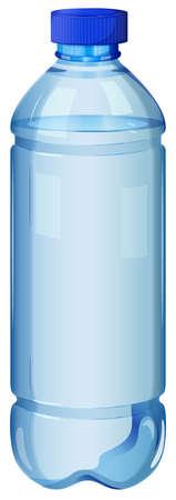 jarra de cerveza: Ilustración de una botella transparente sobre un fondo blanco