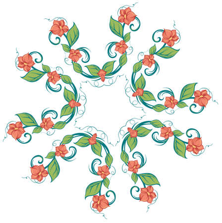 Illustration of a pattern on a white background Vector