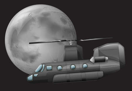 are thrust: Illustration of a helicopter in the sky