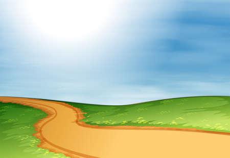 narrow: Illustration of a narrow pathway Illustration