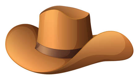 hard rain: Illustration of a brown hat on a white background