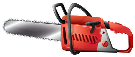 handheld device: Illustration of a chainsaw on a white background