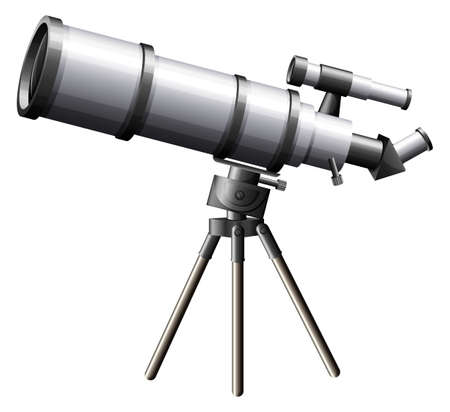 telescope: Illustration of a telescope on a white background