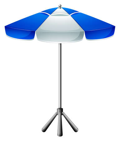 handheld device: Illustration of a big beach umbrella on a white background Illustration