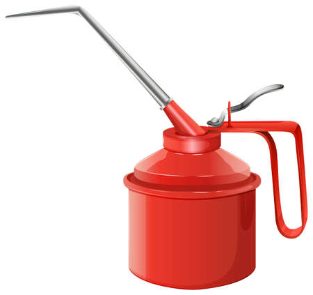 oilcan: Illustration of an oil can on a white background Illustration