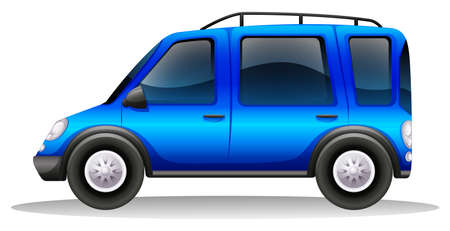 Illustration of a tinted family car on a white background Vector