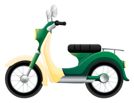 fueled: Illustration of a motorbike on a white background