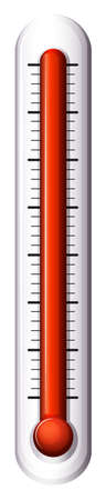 coldness: Illustration of a measuring device for temperature on a white background Illustration