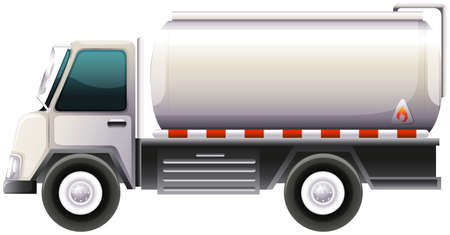 movable: Illustration of a gasoline truck on a white background