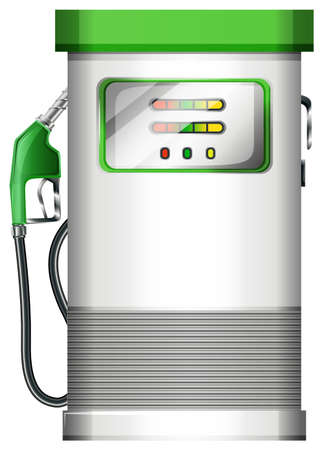 Illustration of a petrol pump on a white background Vector