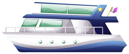 fueled: Illustration of a boat on a white background