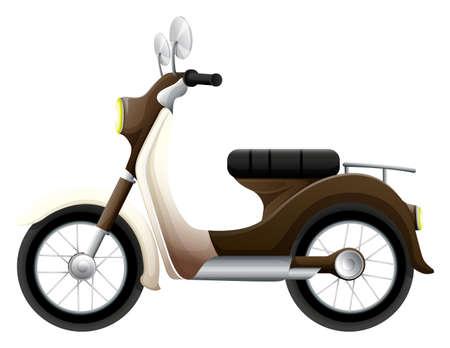 motorised: Illustration of a motor vehicle on a white background