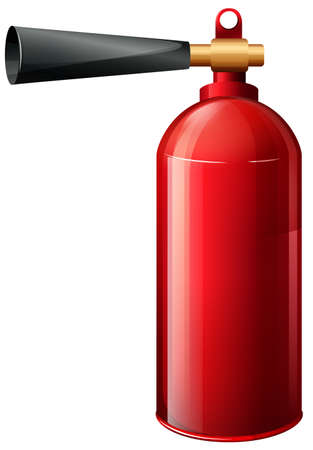 handheld device: Illustration of a fire extinguisher on a white background Illustration