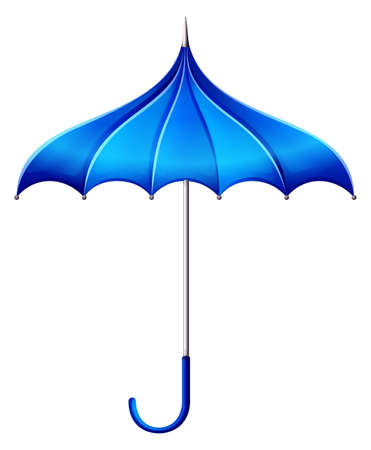 brolly: Illustration of a blue umbrella on a white background