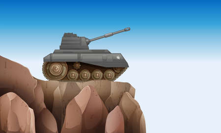 frontline: Illustration of a tank at the cliff