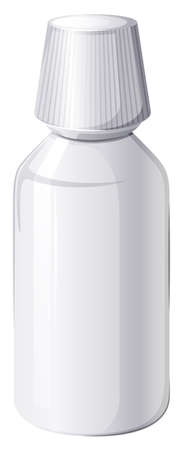 prescription bottle: Illustration of a medical container on a white background