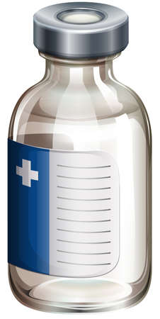 immunity: Illustration of a medical vaccine on a white background
