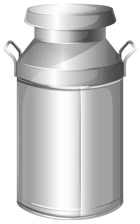 cold storage: Illustration of a milk stainless container on a white background