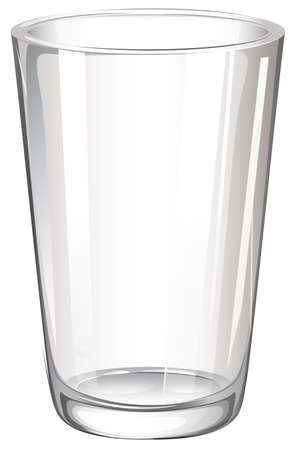 Illustration of a drinking glass on a white background Vector