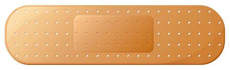 Illustration eines medizinischen Pflaster auf weißem Hintergrund Standard-Bild - 26243199