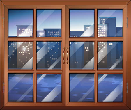 cityview: Illustration of a closed window Illustration