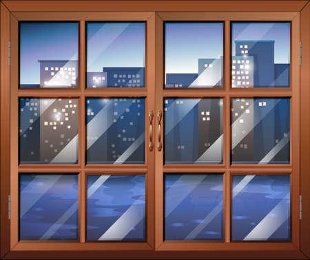Illustration of a closed window Illustration