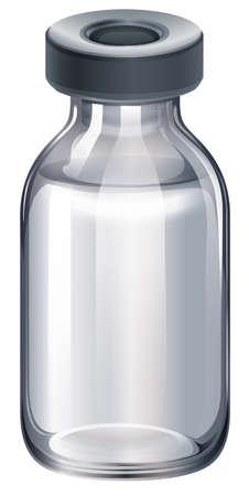 pathogen: Ilustraci�n de una vacuna en un fondo blanco Vectores