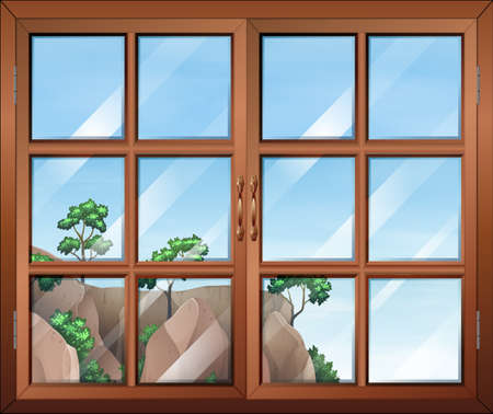 opened eye: Illustration of a closed clear window