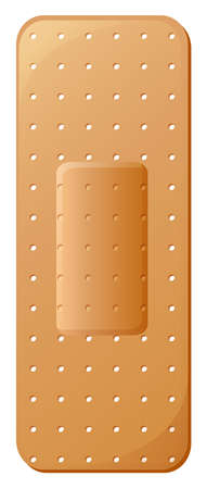 coating: Illustration of a band-aid on a white background Illustration