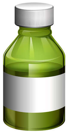 Illustration of a medical bottle with cover on a white background Vector