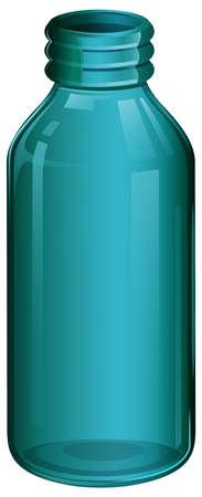 breakable: Illustration of a medical bottle on a white background Illustration