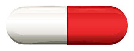 gelatina: Ilustraci�n de un m�dico de la c�psula sobre un fondo blanco